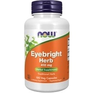 NOW Foods - Eyebright Herb 410 mg. - 100 Capsules