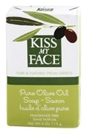 Image of Kiss My Face - Pure Olive Oil Bar Soap Fragrance Free - 4 oz.