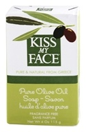 Kiss My Face - Pure Olive Oil Bar Soap Fragrance Free - 4 oz. by Kiss My Face