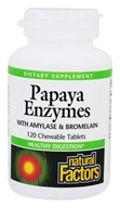 Natural Factors - Chewable Papaya Enzymes - 120 Chewable Tablets by Natural Factors