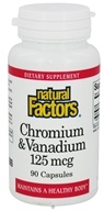 Natural Factors - Chromium & Vanadium 125 mcg. - 90 Capsules - $5.37