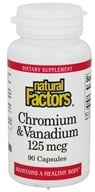 Natural Factors - Chromium & Vanadium 125 mcg. - 90 Capsules, from category: Vitamins & Minerals