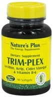 Nature's Plus - Trim-Plex Lecithin Kelp Cider Vinegar & Vitamin B-6 Supplement - 90 Softgels