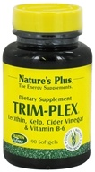 Nature's Plus - Trim-Plex Lecithin Kelp Cider Vinegar & Vitamin B-6 Supplement - 90 Softgels - $8.77