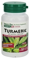 Image of Nature's Plus - Herbal Actives Turmeric 400 mg. - 60 Vegetarian Capsules
