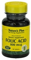 Nature's Plus - Folic Acid 800 mcg. - 90 Tablets, from category: Vitamins & Minerals