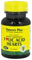 Image of Nature's Plus - Folic Acid Hearts - 90 Tablets