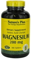 Nature's Plus - Magnesium 200 mg. - 180 Tablets, from category: Vitamins & Minerals