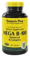 Nature's Plus - Mega B-100 Sustained Release - 180 Tablets - $38.96