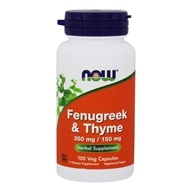 Image of NOW Foods - Fenugreek and Thyme 500 mg. - 100 Capsules