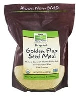 NOW Foods - Golden Flax Meal Organic - 18 oz. (733739062574)