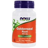 Image of NOW Foods - Goldenseal Root 500 mg. - 50 Capsules