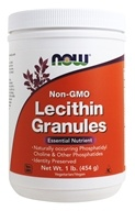 NOW Foods - Lecithin Granules Non-GMO - 1 lb.