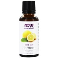 NOW Foods - 100% Pure Essential Oil Lemon - 1 oz.