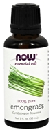 NOW Foods - Lemongrass Oil - 1 oz.