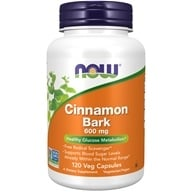 NOW Foods - Cinnamon Bark 600 mg. - 120 Capsules - $6.99