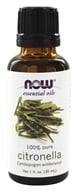 NOW Foods - 100% Pure Essential Oil Citronella - 1 fl. oz.