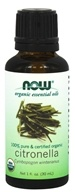NOW Foods - Organic Essential Oil Citronella - 1 oz.