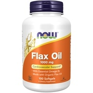 NOW Foods - Flax Oil 1000 mg. - 100 Softgels, from category: Nutritional Supplements