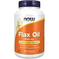 Image of NOW Foods - Flax Oil 1000 mg. - 250 Softgels