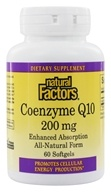 Image of Natural Factors - Co-Enzyme Q10 200 mg. - 60 Softgels