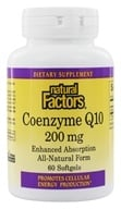 Natural Factors - Co-Enzyme Q10 200 mg. - 60 Softgels - $18.18