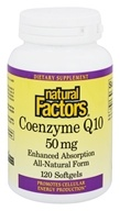 Image of Natural Factors - Coenzyme Q10 Enhanced Absorption 50 mg. - 120 Softgels