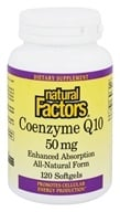 Natural Factors - Coenzyme Q10 Enhanced Absorption 50 mg. - 120 Softgels, from category: Nutritional Supplements