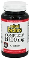Natural Factors - Complete B Time Release 100 mg. - 90 Tablets, from category: Vitamins & Minerals