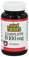 Natural Factors - Complete B Time Release 100 mg. - 90 Tablets - $14.97