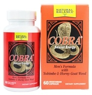 Natural Balance - Cobra Formula For Men - 60 Capsules - $15.67