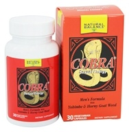 Natural Balance - Cobra Sexual Energy - 30 Vegetarian Capsules - $8.81