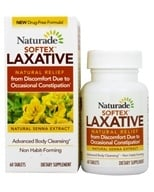 Naturade - Softex Stool Softener Laxative - 60 Tablets - $6.24