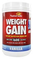 Naturade - Weight Gain Instant Nutrition Drink Mix Vanilla - 38.94 oz.