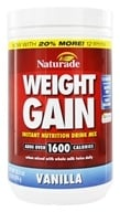 Naturade - Weight Gain Instant Nutrition Drink Mix Vanilla - 18 oz.