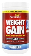 Naturade - Weight Gain Instant Nutrition Drink Mix Vanilla - 18 oz., from category: Sports Nutrition
