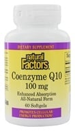 Natural Factors - CoEnzyme Q10 Enhanced Absorption Formula 100 mg. - 60 Softgels - $9.81
