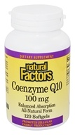 Natural Factors - Co-Enzyme Q10 100 mg. - 120 Softgels, from category: Nutritional Supplements