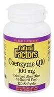 Image of Natural Factors - Co-Enzyme Q10 100 mg. - 120 Softgels