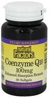 Image of Natural Factors - Coenzyme Q10 Enhanced Absorption Formula 100 mg. - 30 Softgels