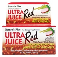Nature's Plus - Ultra Juice Red Multinutrient Supplement - 90 Tablets - $20.20