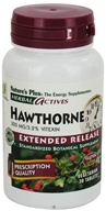 Nature's Plus - Herbal Actives Extended Release Hawthorne 300 mg. - 30 Tablets - $8.84