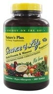 Nature's Plus - Source Of Life Multi-Vitamin & Mineral No Iron - 180 Vegetarian Tablets - $46.48