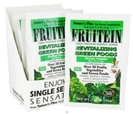 Image of Nature's Plus - Fruitein Shake Packets Revitalizing Green Foods - 1 Packet