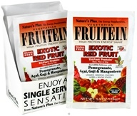 Image of Nature's Plus - Fruitein Vegetarian Shake Exotic Red Fruit - 1 Packet CLEARANCE PRICED