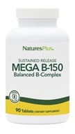 Nature's Plus - Mega B-150 Sustained Release - 90 Tablets