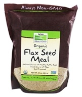 NOW Foods - Flax Seed Meal Organic Non-GE - 18 oz. - $5.99