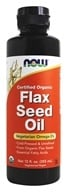 NOW Foods - Flax Seed Oil Organic Non-GE - 12 oz.