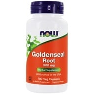 Image of NOW Foods - Goldenseal Root US Wild-Crafted 500 mg. - 100 Capsules