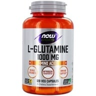 NOW Foods - L-Glutamine Double Strength 1000 mg. - 120 Capsules (733739000941)